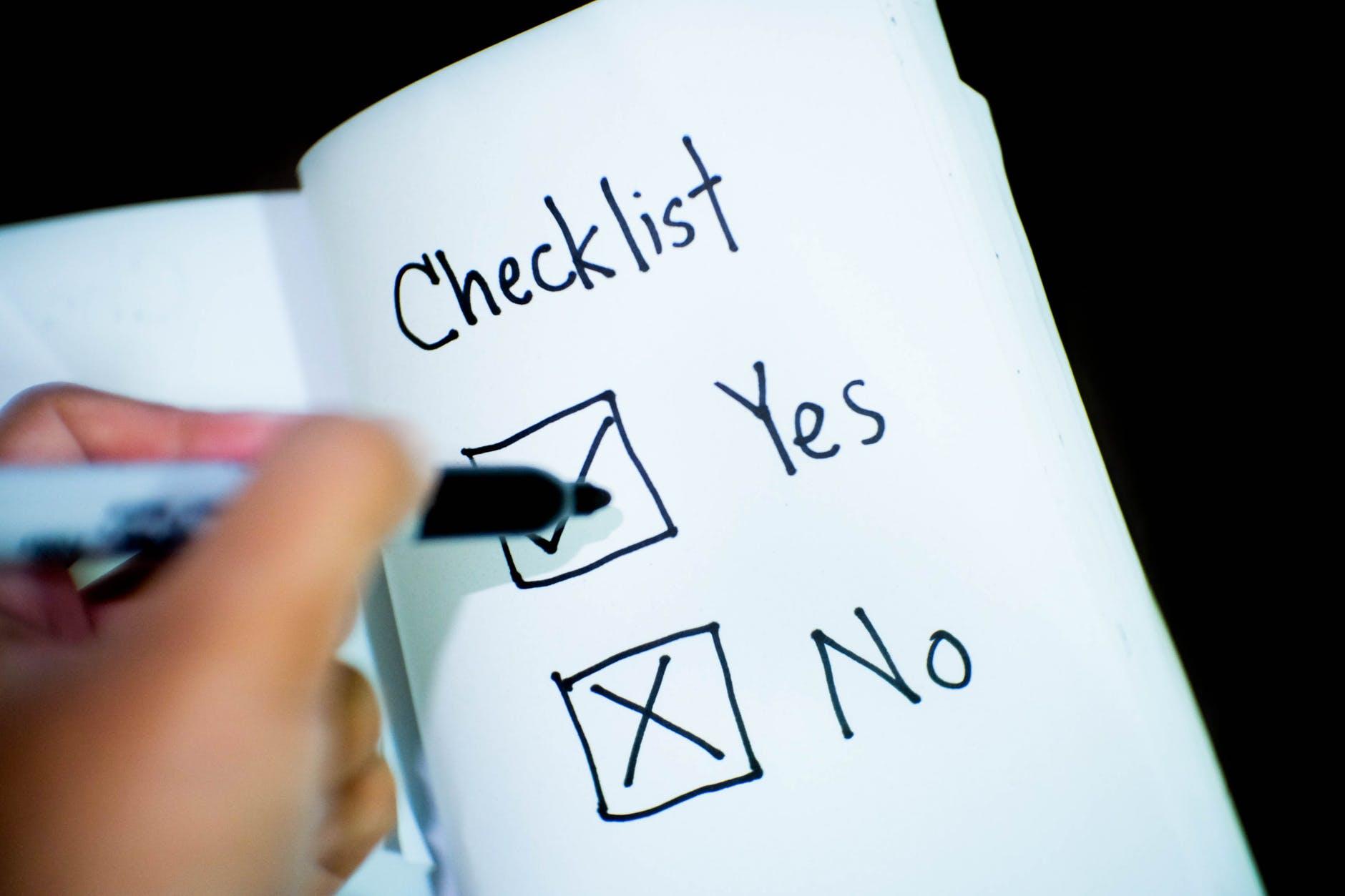 Check list per adeguamento statuto enti terzo settore