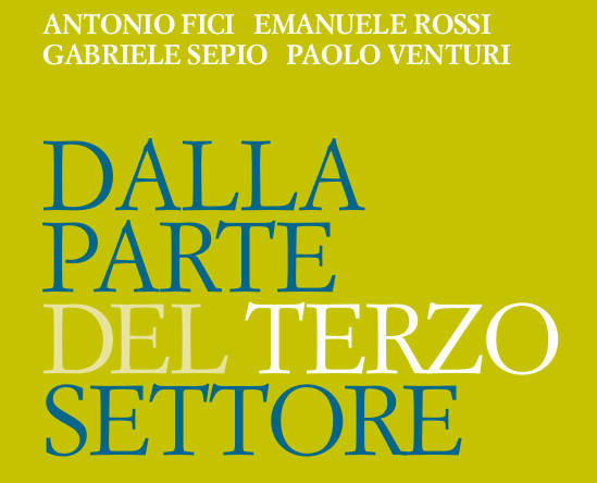 Dalla parte del terzo settore - copertina del libro